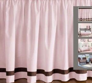Restoration Hardware Crib Skirt Pink Brown European Contrast Pipe Baby Bedding Ebay
