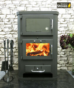 Details About Wood Burning Multifuel Stove Oven Cooker Combination Tuscani 15kw
