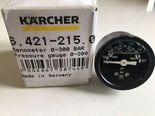 Genuine Karcher Manometer 0-300 BAR Pressure Gauge HDS 64212150