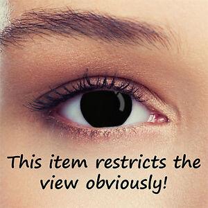 Blackout blind contact lenses