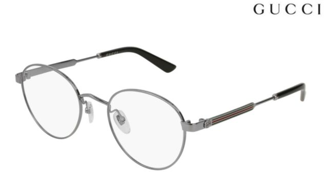 7c1ea9665f58 Gucci Round Men Eyeglasses Gg0290o-004 50 Ruthenium Frame   Demo ...