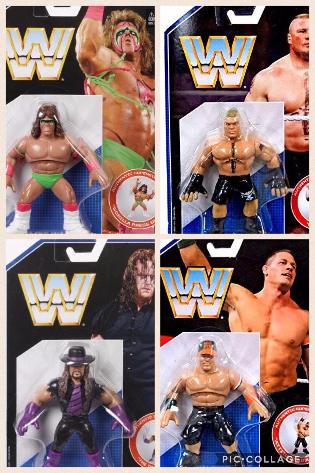 WWE COMPLETE SET BUNDLE RETRO ACTION MATTEL 1 WRESTLING FIGURE HASBRO STYLE WWF