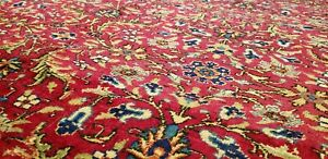 Exquisite-Antique-1930-1940-039-s-Natural-Dye-Wool-Pile-Kayseri-Bunyan-Rug-7x10ft