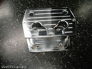 Polished-Aluminum-Billet-Milled-Optima-Hold-Down-Battery-Bracket-Tray-Red-Yellow
