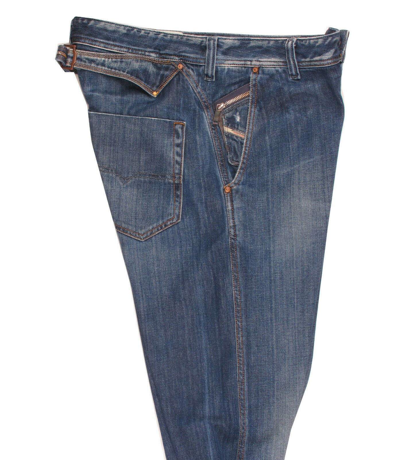 DIESEL PHEYO Wash 008AT Men's Loose Relaxed Fit Drop Credch Jeans Denim W33 L30