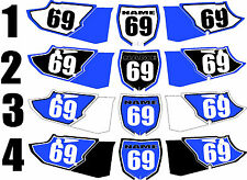 2015 Yamaha YZ125 250 YZ250 YZ 125 Number Plates Side Panels Graphics Decal
