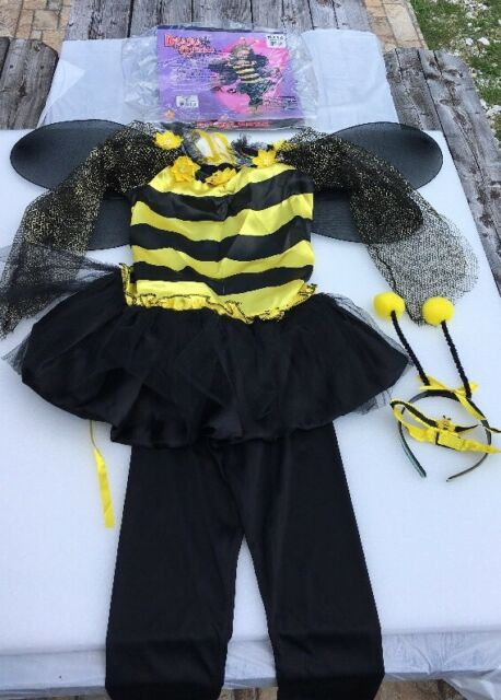 Wings G82 Ladies Bumble Bee Fancy Dress Up Costume Halloween Hen Party Outfit