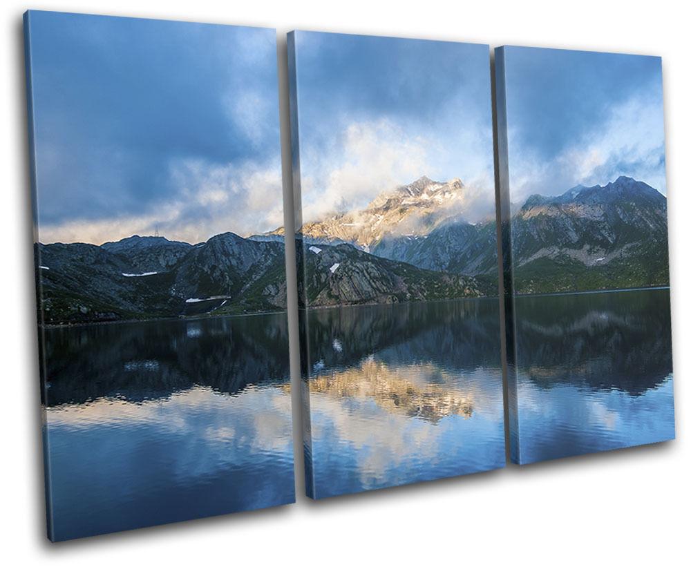 Mountains Nature Lake Landscapes TREBLE Leinwand Wand Kunst Bild drucken