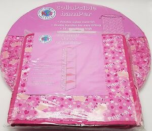Girls-Pink-Princess-Toy-Storage-Hamper-and-6-Shelf-Closet-Set-Collapsible-New