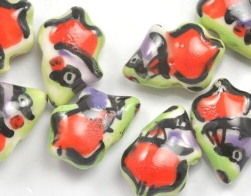 Porcelain Ceramic Beads Animals Butterfly Fish Turtle for Jewellery Making