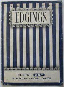 Vintage-1942-Edgings-Sewing-Pamphlet-Clarks-ONT-Mercerized-Crochet-Cotton-Guide