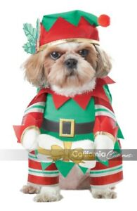 California-Costumes-Elf-Pup-Santa-Claus-Dog-Christmas-Xmas-Holiday-Costume