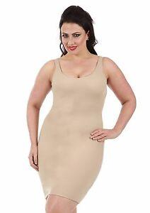 3c137517c Image is loading InstantFigure-Curvy-Shapewear-Slip-Tank-Dress