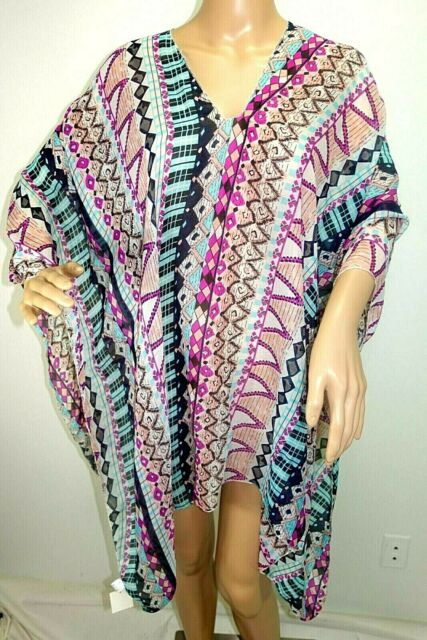 Women Chiffon One Size Handkerchief Poncho Cover Up Tunic Caftan Blouse Top Blac For Sale Online Ebay