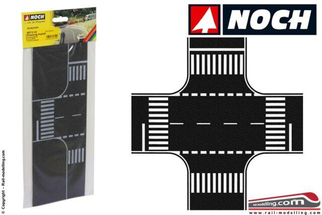 Fondo stradale incrocio asfaltato 220x220 mm HO NH60712 noch modellismo