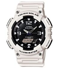 Casio Classic Watch * AQS810WC-7AV Solar Anadigi White