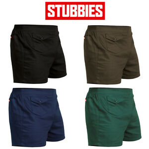 Mens-Stubbies-Original-Basic-Short-Shorts-Elastic-Cotton-Drill-Summer-SE2010