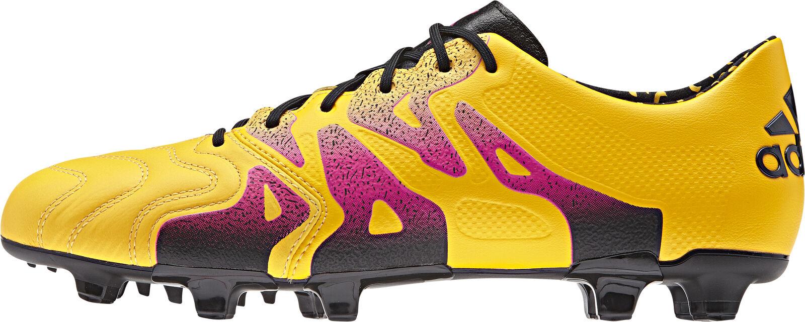 Adidas X 15.1 Firm Ground   AG Leather Mens Football botas - oro