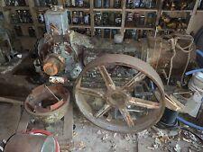 Vtg Antique Worthington Air Compressor Hit Miss Steam Engine Amp Large Gear Wheel
