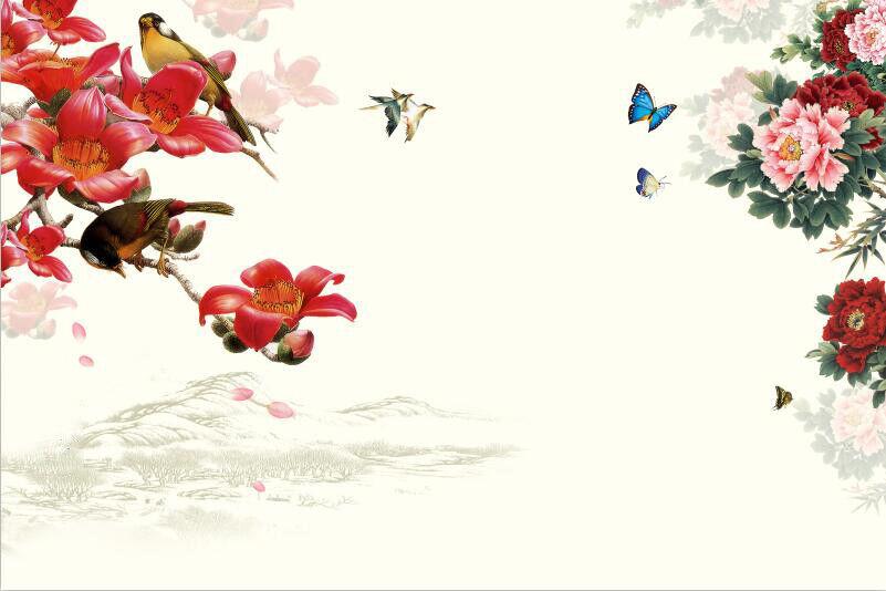 3D Blaumen Vogel Muster 8903 Tapete Wandgemälde Wandgemälde Wandgemälde Tapeten Bild Familie DE Kyra | Schönes Design  | Internationale Wahl  | Konzentrieren Sie sich auf das Babyleben  895f33