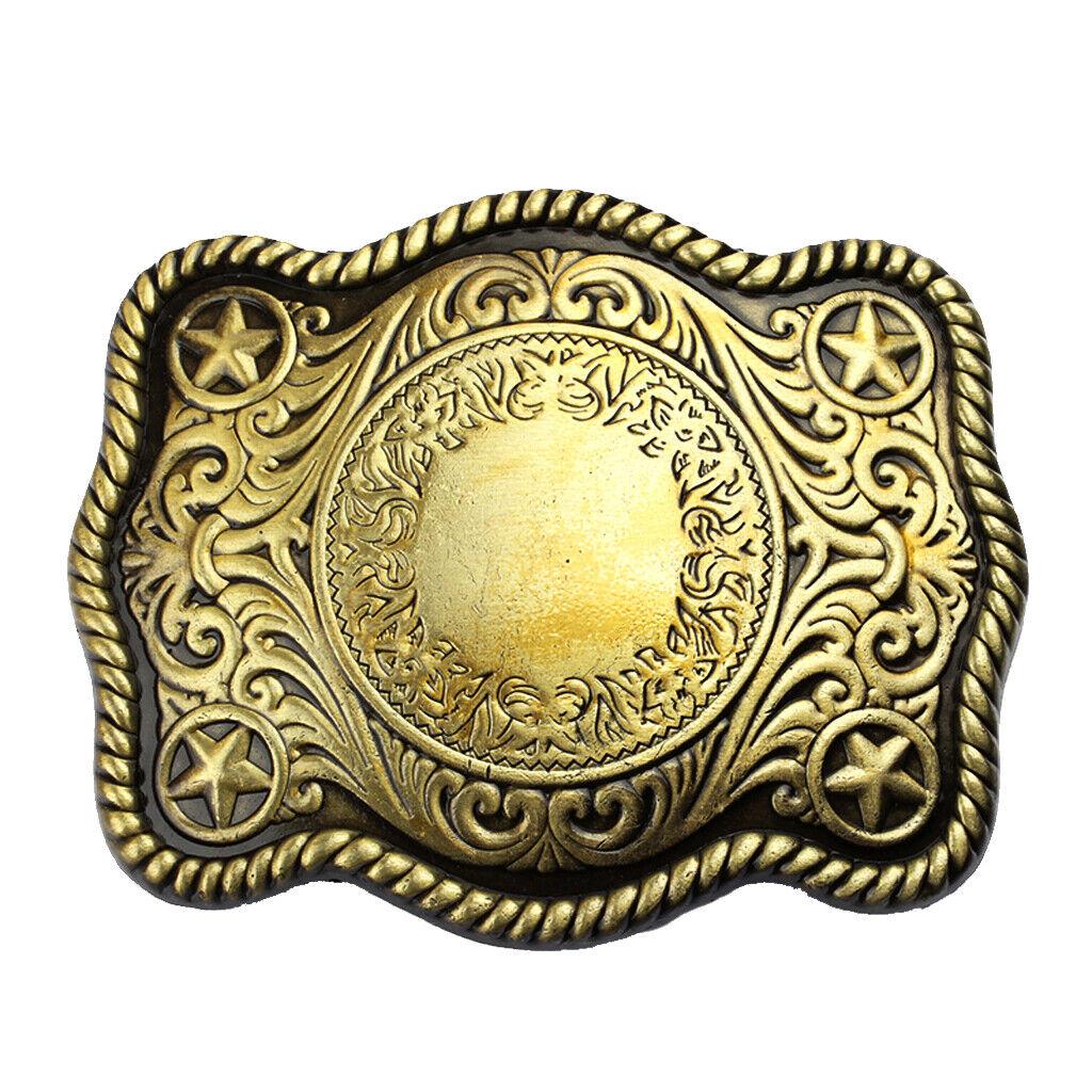 Herren Keltische Bronze Sterne Art Design West Cowboy Style Gürtelschnalle
