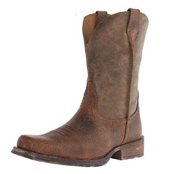 667898c4e8f Ariat Western Cowboy Rambler Mens Boot Earth Brown Bomber 10002317 12