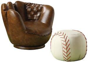 Tremendous Details About Baseball Glove Chair Ottoman Kids Home Bedroom Furniture Comfortable Sturdy Seat Inzonedesignstudio Interior Chair Design Inzonedesignstudiocom