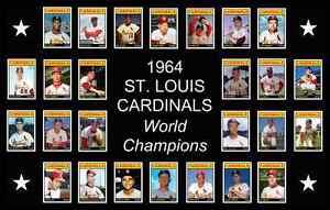 1964-ST-LOUIS-CARDINALS-World-Series-POSTER-Art-Man-Cave-Decor-Fan-Xmas-Gift-64