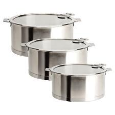 Cristel Strate Removable Handle - Set of 3 Saucepans w/Lids