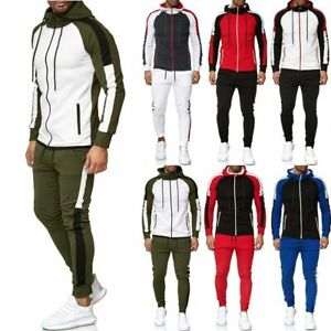 Herren Hoodie Jogginghose Trainingsanzug Pullover Sweatshirts Sportanzug