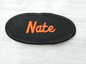 PATRICK USED EMBROIDERED VINTAGE SEW ON NAME PATCH TAG ASSORTED COLORS