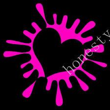 Heart sticker decal paint splat for girl scar window wall cute girly love white