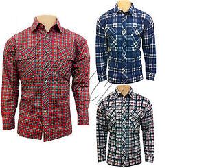 Pour-Hommes-Elegant-Decontracte-Travail-Lumberjack-Flanelle-Chemise-A-Carreaux