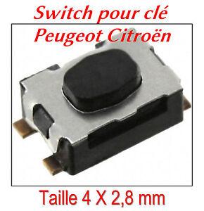 1 Switch bouton de plip clé pliante Citroen C1 C2 C3 C4 C5 C6 C8 lame repliable