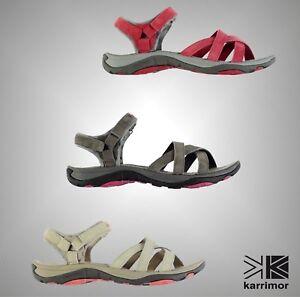 DéVoué Nouveau Femme Karrimor Cross Strap Salina Cuir Outdoor Walking Sandales Tailles 4-8-afficher Le Titre D'origine