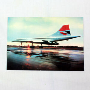 British Airways - Concorde - Sunset - Aircraft Postcard - Good Quality