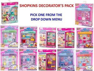 New Shopkins DECORATOR'S Pack BUNNY bear Puppy Poney Kitty Mousely Pick 1