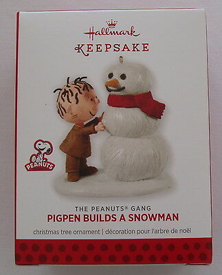 Hallmark 2013 Peanuts Gang Pigpen Builds a Snowman Christmas Ornament