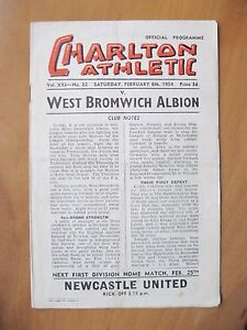 CHARLTON ATHLETIC v WEST BROMWICH ALBION 19531954 Good Cond Football Programme - London, United Kingdom - CHARLTON ATHLETIC v WEST BROMWICH ALBION 19531954 Good Cond Football Programme - London, United Kingdom