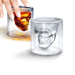 Skull-Head-Vodka-Shot-Whiskey-Wine-Drinking-Glass-Decanter-Cup-Lovely