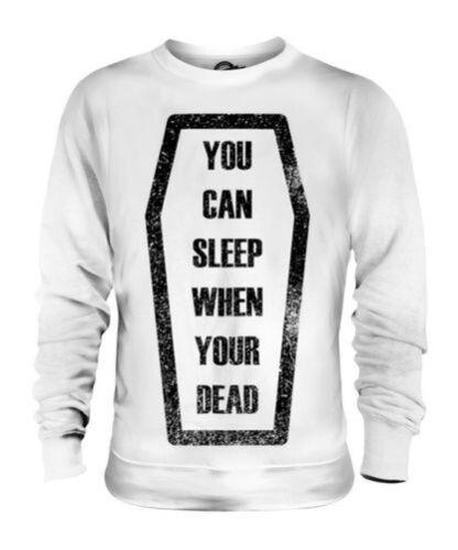 Regalo Dead When Maglione Sleep You're Citazione Unisex Bara qvOfnpw1x