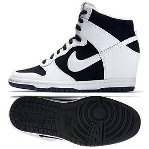 941c63e156e0 Nike Dunk Sky Hi Essential 644877-007 White Black Hidden Wedge ...