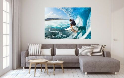 Surfer Welle Meer Leinwand Bild Wandbild Kunstdruck L1195