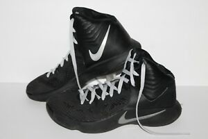 official photos 5ef3c dd021 Image is loading Nike-Hyperfuse-Basketball-Shoes-684591-001-Black-Silver-
