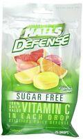 Halls Defense Vitamin C Drops Sugar Free Assorted Citrus 25 Each on Sale