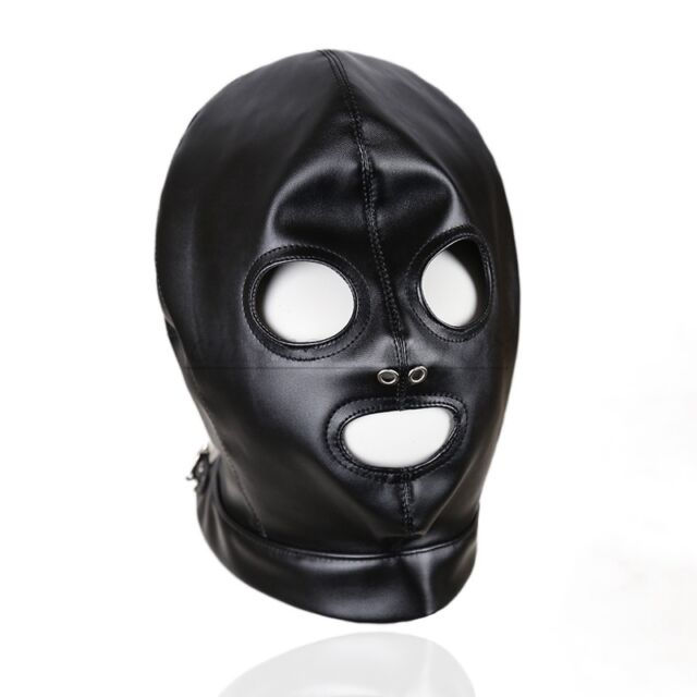 Quality PU Leather Full Covered Hood Black