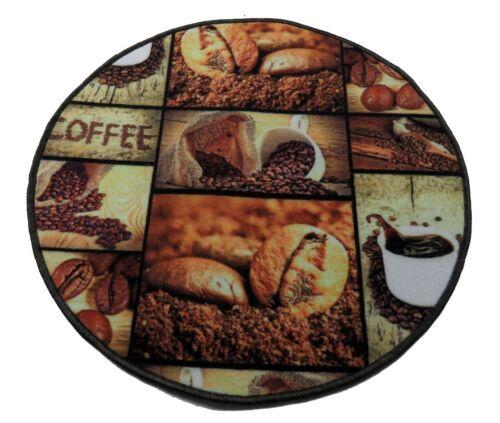 Kuechenteppich Coffee Veloursteppich Aufdruck 3D Waschbar Modische Muster