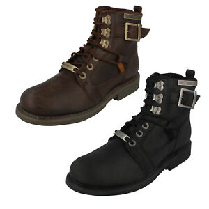 Mens Harley Davidson Lace Up Ankle Boots Harrison