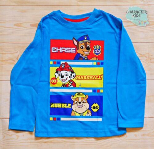 Paw Patrol Niño Camiseta Mangas Largas 2 a 8 años Nuevas Colecciones