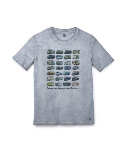Herren Original VW T1 T-Shirt T1 Summer Edition Graumelange